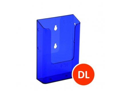 Nástěnný zásobník na letáky DL, tónovaný fialový