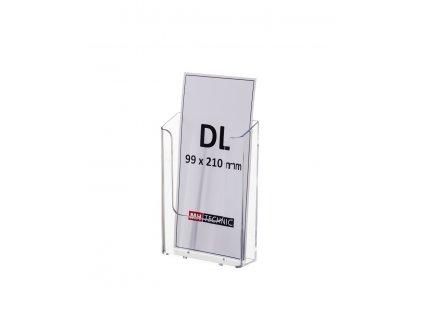 Nástěnný zásobník na letáky DL, transparentní