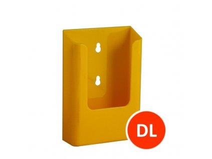 Nástěnný zásobník na letáky DL, žlutý