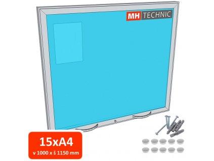 Venkovní informační vitrína MH60, 1000x1150 mm (15xA4)