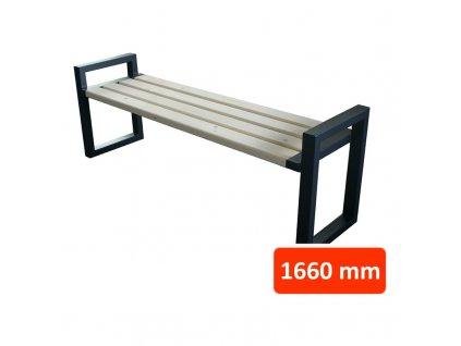 Parková lavička CH bez opěradla, šířka 1660 mm