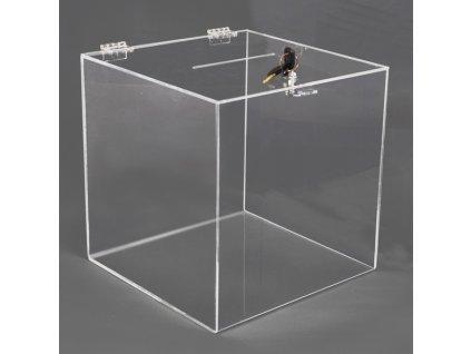 Box na losy a vizitky 200x200x200 mm, uzamykatelný
