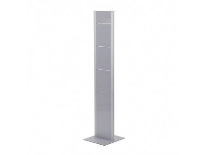 Designový oboustranný letákový stojan BRT, stříbrný
