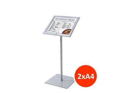 Venkovní menu stojan 2xA4