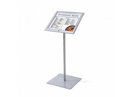 Venkovní menu stojan 2xA4, LED osvětlení MBSCZ2xA4LED