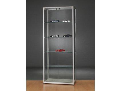 Skleněná vitrína 800x1984x400 mm, bez osvětlení