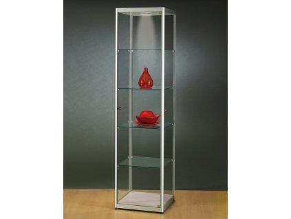 Skleněná vitrína 500x2000x500 mm, s LED osvětlením