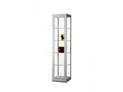 Prachotěsná skleněná vitrína 400x1972x400 mm, bez osvětlení