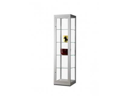 Prachotěsná skleněná vitrína 500x1972x500 mm, bez osvětlení