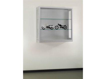Prachotěsná nástěnná vitrína 1000x972x300 mm, bez osvětlení