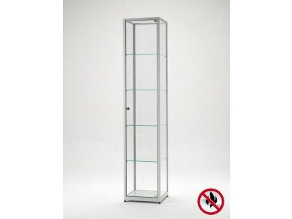 Skleněná vitrína 400x1984x400 mm, atest B1