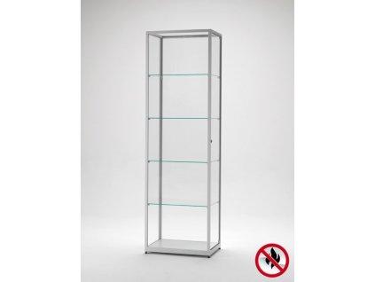 Skleněná vitrína 600x1984x400 mm, atest B1