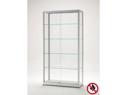 Skleněná vitrína 1000x1984x400 mm, atest B1