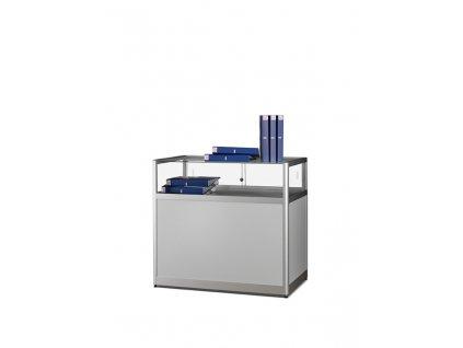 Prachotěsná stolní prosklená vitrína s úložným prostorem 1000x920x600 mm