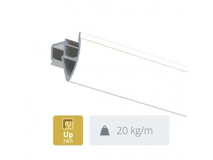 Stropní závěsná lišta UP Rail, bílá přetíratelná - 300 cm