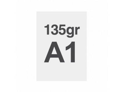 A1 tisk na prémiový papír 135g/m2, satinovaný povrch LPPA1S135