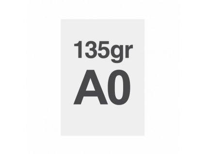 A0 tisk na prémiový papír 135g/m2, satinovaný povrch LPPA0S135
