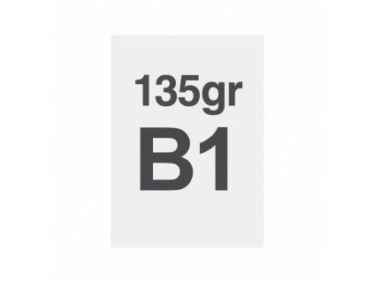 B1 tisk na prémiový papír 135g/m2, satinovaný povrch LPP70x100S135