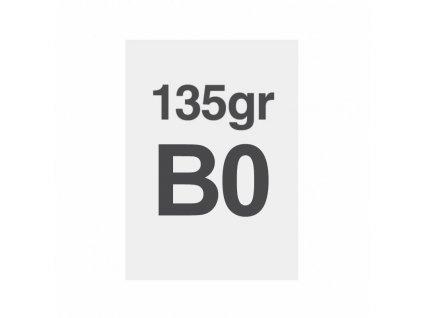 B0 tisk na prémiový papír 135g/m2, satinovaný povrch LPP100x140S135