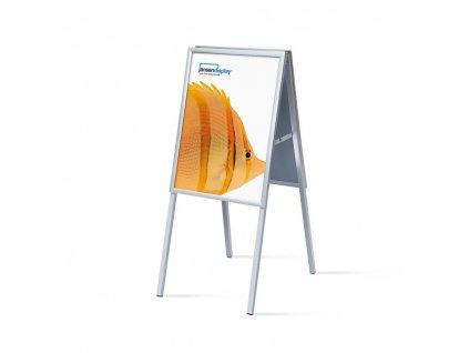 ZPA2G20 Interiérové reklamní áčko A2, ostrý roh, profil 20mm