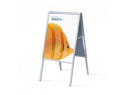 ZP50x70G20 Interiérové reklamní áčko 500x700 mm (B2), ostrý roh, profil 20mm