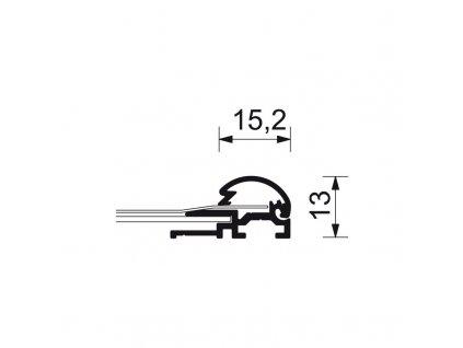 Klaprám 500x700 mm (B2), ostrý roh, profil 25 mm
