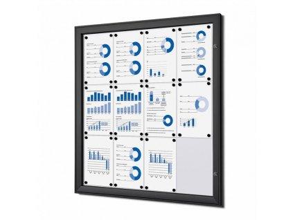 SCS12xA4C9005 Vnitřní uzamykatelná vitrína základní 12xA4, černá