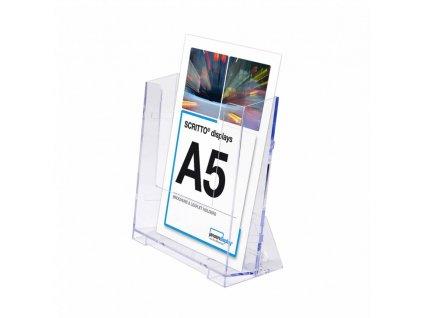 SCRITTO nástěnný stojánek na letáky formátu A5 PA5P