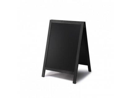 Dřevěné áčko s křídovou tabulí 55x85, černá ZPCHBBL55x85