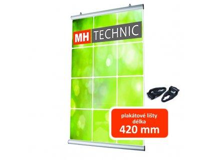 Lišty na plakáty, délka 420 mm