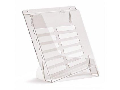 Stolní / nástěnný stojánek na letáky A5, transparentní TS160