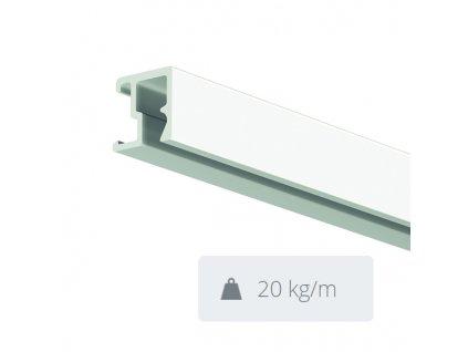 Nástěnná lišta Contour Rail, bílá přetíratelná - 300 cm 30.11301