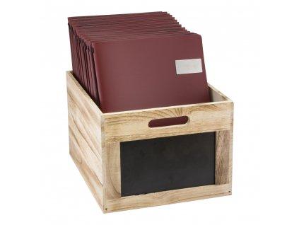 Dřevěný box s popisovací tabulkou Securit Wooden Crate CR-CB