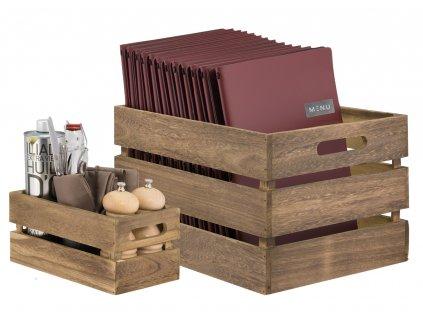 Dřevěný box Securit Vintage Wooden Crate