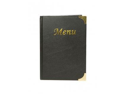 """jídelní lístek Basic černý, A5, Nápis """"MENU"""" MC-BRA5-BL"""