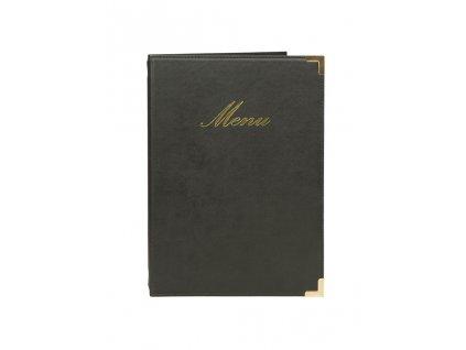 """Jídelní lístek Classic (Barva černá, Formát 180x360 mm, Štítek Nápis """"MENU"""")"""
