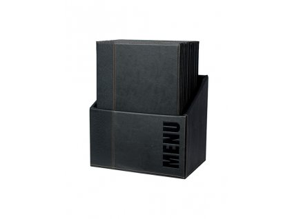 """Jídelní lístek Trendy A4, sada box 20ks (Barva černá, Formát A4, Štítek Nápis """"MENU"""")"""