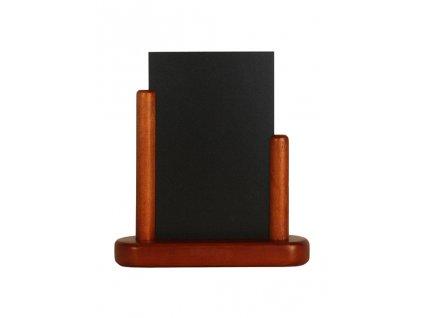 Křídový menu stojánek Elegant A6, mahagon ELE-M-SM