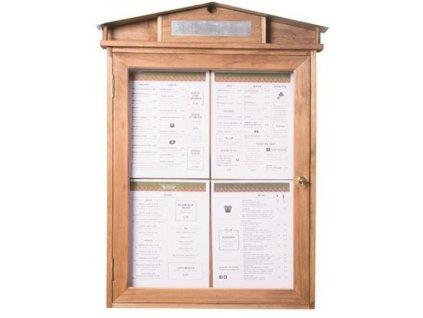 Osvětlená menu vitrína Securit Rustic MCS-4A4-WLR