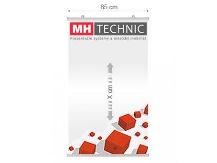Plakátová lišta, délka 850 mm (pro plakát A0)