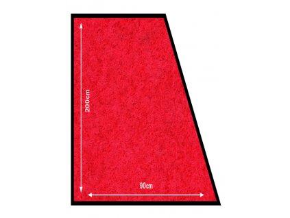 Protiskluzová rohož k bariérovým sloupkům červená RS-200-RD