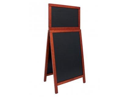 Reklamní poutač Premium 120x55 cm s top kartou, tvrdé dřevo (Barva přírodní)