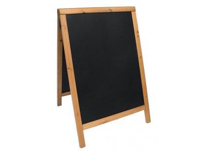 Reklamní poutač Woody Sandwich 85x55 cm, teak, měkké dřevo, BDW-TE-85