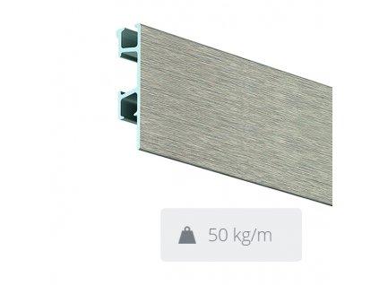 Nástěnná lišta Click Rail Pro, škrábaný hliník - 300 cm 05.05330