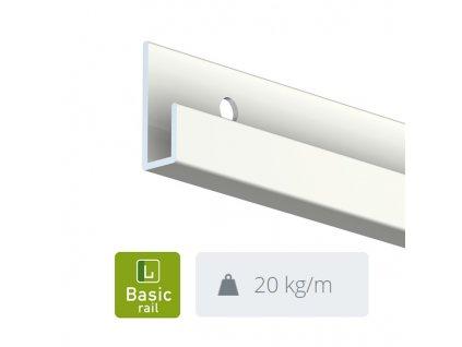 Nástěnná lišta Classic Rail, bílá - 300 cm 9.4308
