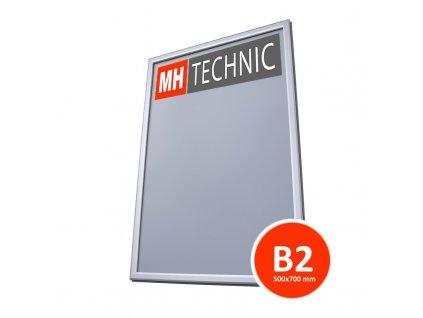 Plakátový rám do výlohy 500x700 mm (B2), profil 25 mm