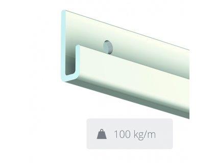 Nástěnná lišta Classic Rail Plus, bílá - 300 cm 9.4319