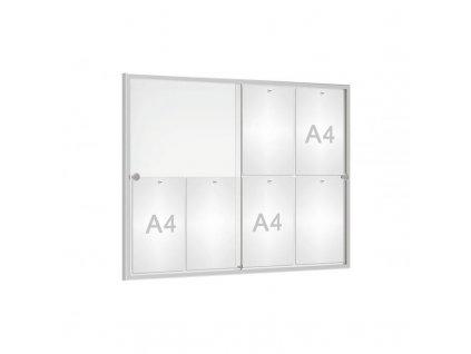 Interiérová vitrína Reference s posuvným sklem 8xA4 505100