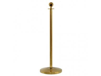 Sloupek pro provazovou bariéru,  zlatý STOP41
