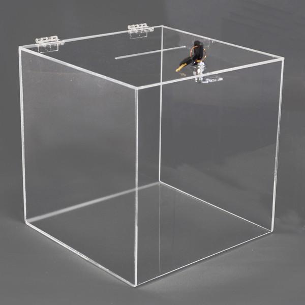 MH TECHNIC Box na losy a vizitky 200x200x200 mm, uzamykatelný